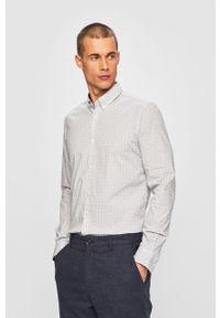 Biała koszula Tom Tailor Denim casualowa, długa, button down, na co dzień