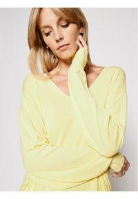 Kontatto Sweter 3M7215 Żółty Relaxed Fit. Kolor: żółty