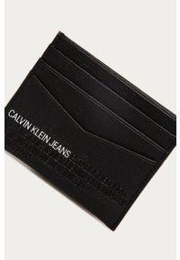 Czarny portfel Calvin Klein Jeans gładki