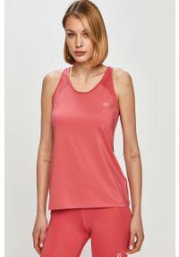 Różowy top Calvin Klein Performance casualowy, na ramiączkach