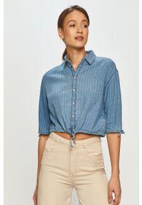 Pepe Jeans - Koszula bawełniana Lux. Kolor: niebieski. Materiał: bawełna. Długość rękawa: krótki rękaw. Długość: krótkie