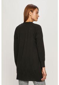 Czarny sweter rozpinany Jacqueline de Yong casualowy, na co dzień