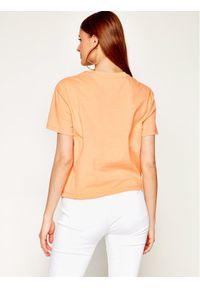Pomarańczowy t-shirt Tommy Jeans