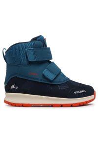Viking - Śniegowce VIKING - Toby Gtx GORE-TEX 3-89300-555 Navy/Petrol. Kolor: niebieski. Materiał: skóra, materiał. Szerokość cholewki: normalna. Sezon: zima, jesień