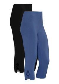 Cellbes Legginsy 3/4 2 Pack denim blue Czarny female niebieski/czarny 50/52. Kolor: czarny, wielokolorowy, niebieski. Materiał: denim. Wzór: aplikacja