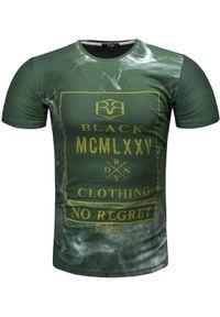 Zielony t-shirt z nadrukiem Recea