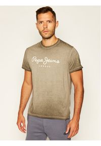 Pepe Jeans T-Shirt West Sir PM504032 Szary Loose Fit. Kolor: szary