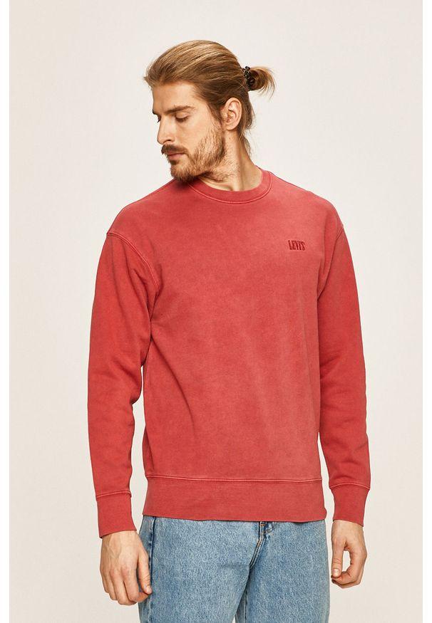 Czerwona bluza nierozpinana Levi's® z okrągłym kołnierzem, w kolorowe wzory