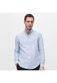 Reserved - Bawełniana koszula regular fit - Niebieski. Kolor: niebieski. Materiał: bawełna