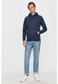 Niebieska bluza nierozpinana Tommy Jeans z kapturem, na co dzień, casualowa