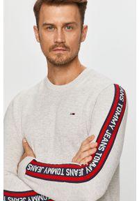 Szary sweter Tommy Jeans casualowy, na co dzień
