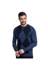 Niebieski sweter Giacomo Conti casualowy, na jesień, polo