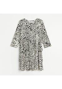 Reserved - Sukienka z falbanami - Wielobarwny