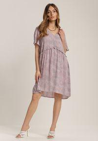 Renee - Różowa Sukienka Chelmala. Kolor: różowy