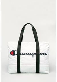 Biała shopperka Champion z nadrukiem, duża, na ramię