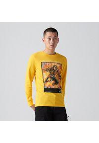 Cropp - Koszulka longsleeve Mortal Kombat - Żółty. Kolor: żółty. Długość rękawa: długi rękaw