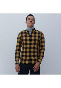 Reserved - Koszula w kratę - Żółty. Kolor: żółty