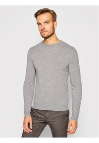 Szary sweter klasyczny Stenströms