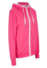 Bluza rozpinana z kapturem bonprix różowy. Typ kołnierza: kaptur. Kolor: różowy