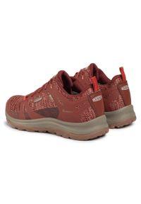 Czerwone buty trekkingowe keen trekkingowe, z cholewką