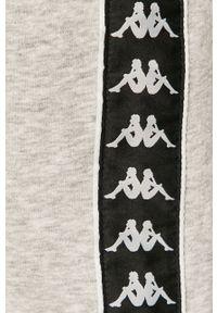 Szare spodnie dresowe Kappa z aplikacjami