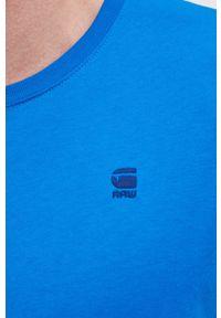 G-Star RAW - G-Star Raw - T-shirt/polo D16411.336. Okazja: na co dzień. Typ kołnierza: polo. Kolor: niebieski. Materiał: bawełna, dzianina. Styl: casual