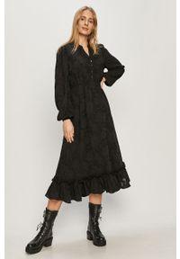 Czarna sukienka only casualowa, na co dzień, rozkloszowana