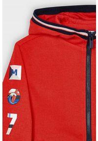 Czerwona bluza rozpinana Mayoral casualowa, z nadrukiem, na co dzień