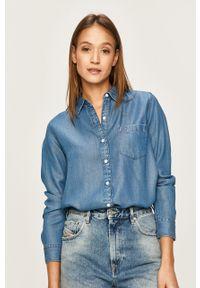 Niebieska koszula Levi's® z klasycznym kołnierzykiem, długa, biznesowa