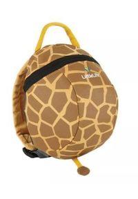 LittleLife Plecak Animal Toddler Daysack - Giraffe L10820. Kolor: brązowy. Wzór: paski. Styl: wakacyjny