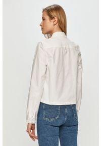 Biała koszula Tommy Jeans gładkie, casualowa, na co dzień