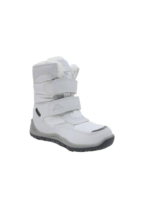 Białe buty trekkingowe Kappa na zimę, z cholewką