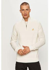 Biały sweter Brave Soul na co dzień, casualowy, z długim rękawem, krótki