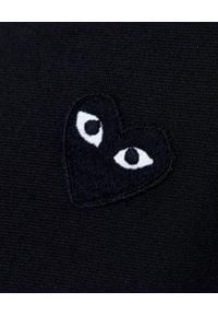 COMME DES GARCONS PLAY - Czarna bluza z kapturem. Okazja: na co dzień. Typ kołnierza: kaptur. Kolor: czarny. Materiał: jeans, materiał. Długość rękawa: długi rękaw. Długość: długie. Styl: klasyczny, casual #3