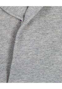 KENZO HOME - Jasnoszary szlafrok z kapturem Logo. Typ kołnierza: kaptur. Kolor: szary. Materiał: materiał. Wzór: aplikacja