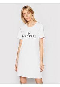 John Richmond Sukienka codzienna Buscaion UWP21121VE Biały Regular Fit. Okazja: na co dzień. Kolor: biały. Typ sukienki: proste. Styl: casual