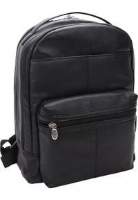 Plecak MCKLEIN Skórzany męski plecak na laptopa MCKLEIN Parker 88555 czarny. Kolor: czarny. Materiał: skóra
