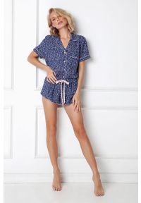 Niebieska piżama Aruelle krótka
