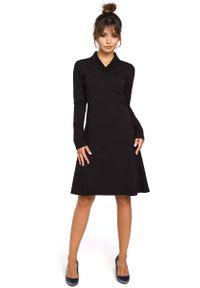 Czarna sukienka dresowa MOE z długim rękawem