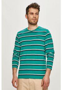 Zielona koszulka z długim rękawem Pepe Jeans na co dzień, z długim rękawem, casualowa
