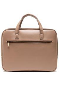 Beżowa torba na laptopa Wittchen