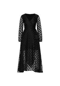Czarna sukienka wieczorowa Guess