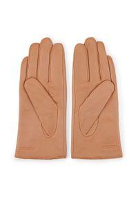Wittchen - Damskie rękawiczki skórzane z wcięciem. Materiał: skóra. Styl: klasyczny