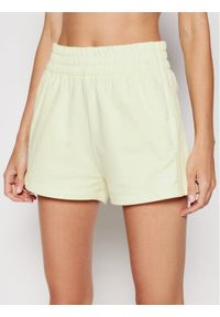 Adidas - adidas Szorty sportowe Tennis Luxe 3-Stripes H56439 Żółty Regular Fit. Kolor: żółty