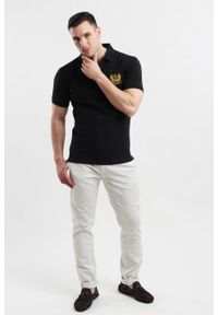 Czarna koszulka polo Edward Orlovski polo, klasyczna