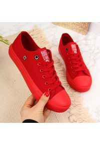 Czerwone tenisówki Big-Star w kolorowe wzory