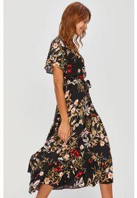 Czarna sukienka Answear Lab na co dzień, wakacyjna, rozkloszowana #5
