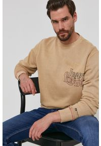 Pepe Jeans - Bluza Danny. Okazja: na co dzień. Kolor: beżowy. Wzór: nadruk. Styl: casual