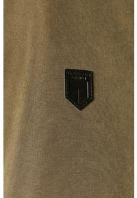 Oliwkowa kurtka Premium by Jack&Jones na co dzień, casualowa, z kapturem