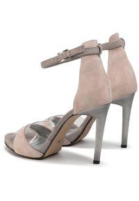 Różowe sandały Karino wizytowe
